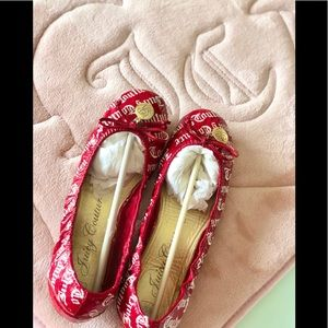 Juicy couture logo red ballet flat 7.5